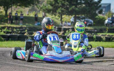 Design Specific sponsor Jonathan Dalton in local sporting race at Buckmore Park in Kent