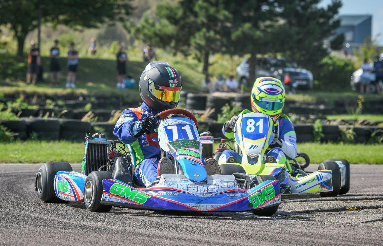 Jonathan Dalton racing at Buckmore Park in Kent
